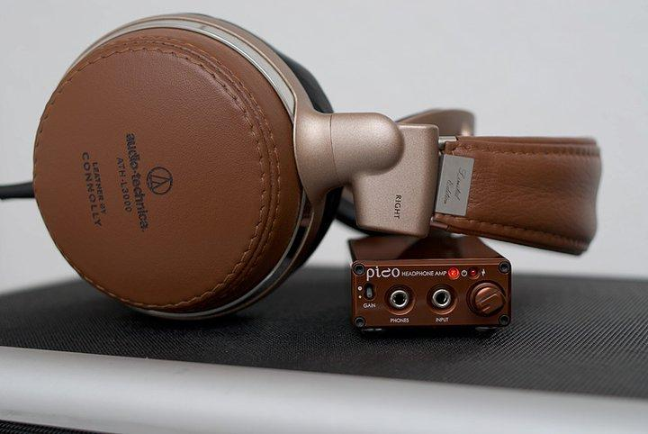 HeadAmp Pico USB DAC/Amp in Bronze and Audio-Technica L3000 headphones