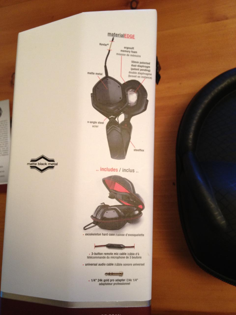 V-Moda Crossfade LP2, the box