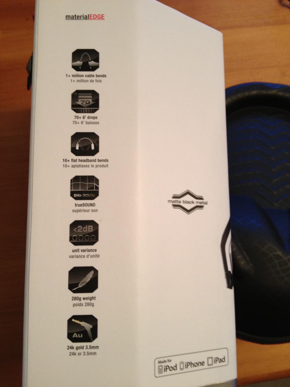 V-Moda Crossfade LP2, the box