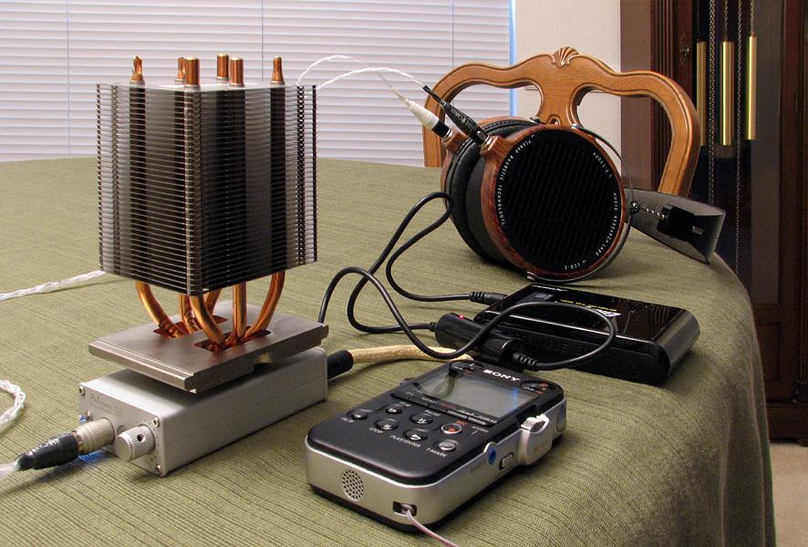 iBasso PB2 equipped with hot running AD797s staying cool with a passive heat sink attached!  (Joke.)