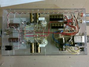 My freshly finished SSMH on it's first test drive. View of the interior. The output coupling...