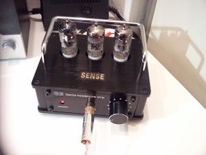 SENSE G3-T7 OTL Tube Amplifier on my desk