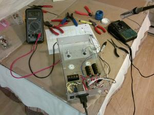 Completed power supply. Tested and sourcing a perfect 48v. The AC filter capacitors and the...