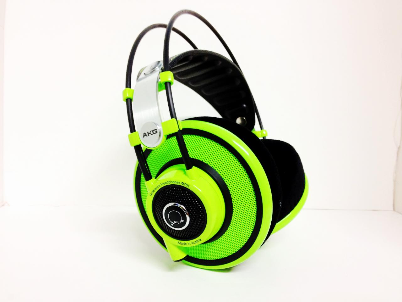 Brand new AKG Q701's I just received in Lime Green. They look and sound amazing.