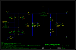 Linear regulated power supply for my MSSH. Revision 0.2.