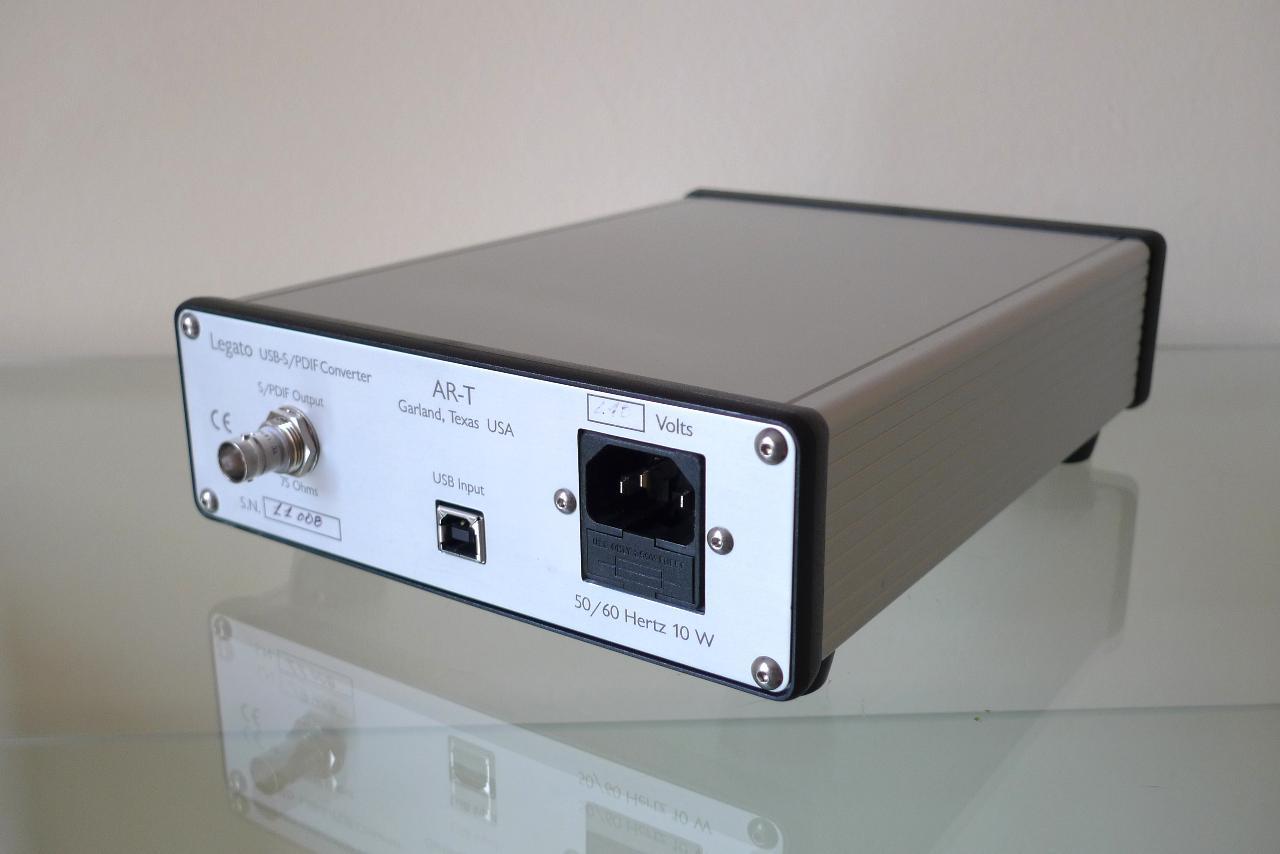 "AR-T Legato (Analog Research-Technology) USB-SPDIF Asynchronous Converter, ""Asynchronous..."