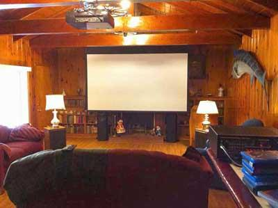 Bigshot's screening room
