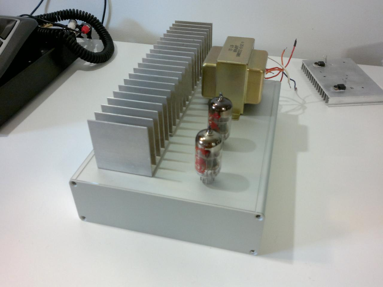 Hammond 1455 enclosure for my Starving Student. Heat sink option.