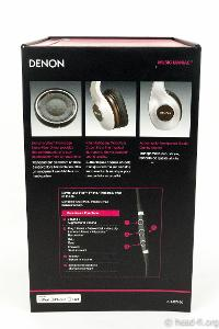 Denon AH-D7100 Artisan box sleeve (pre-production sample), right side view.
