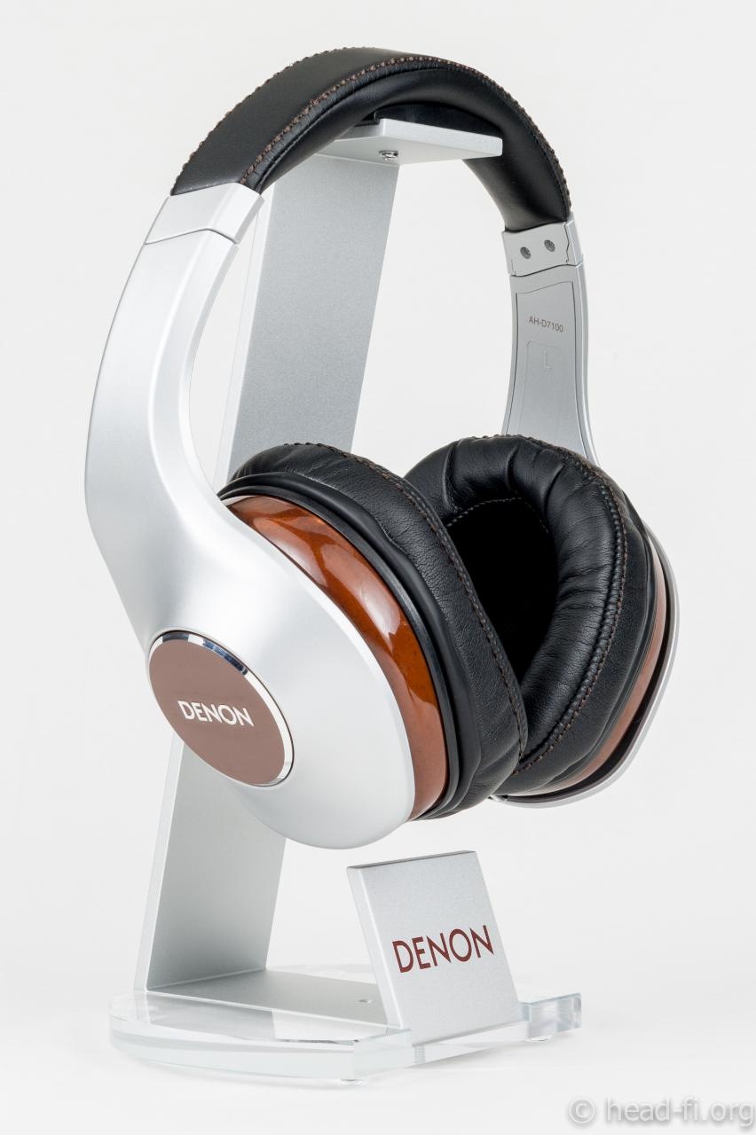 Pre-production sample Denon AH-D7100 Artisan on the included Denon headphone stand.