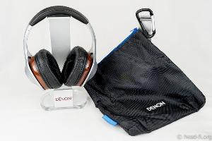 Pre-production sample Denon AH-D7100 Artisan with its included zippered ballistic nylon carrying...
