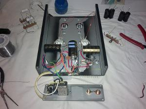 Finished assembling the power supply in the new enclosure. Since the case is shorter than the...