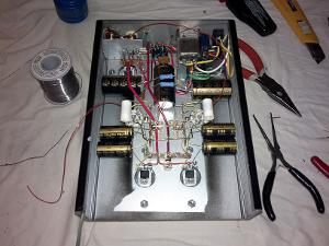 Finished reassembling the wiring for the tubes and the MOSFETs. This time the original layout...