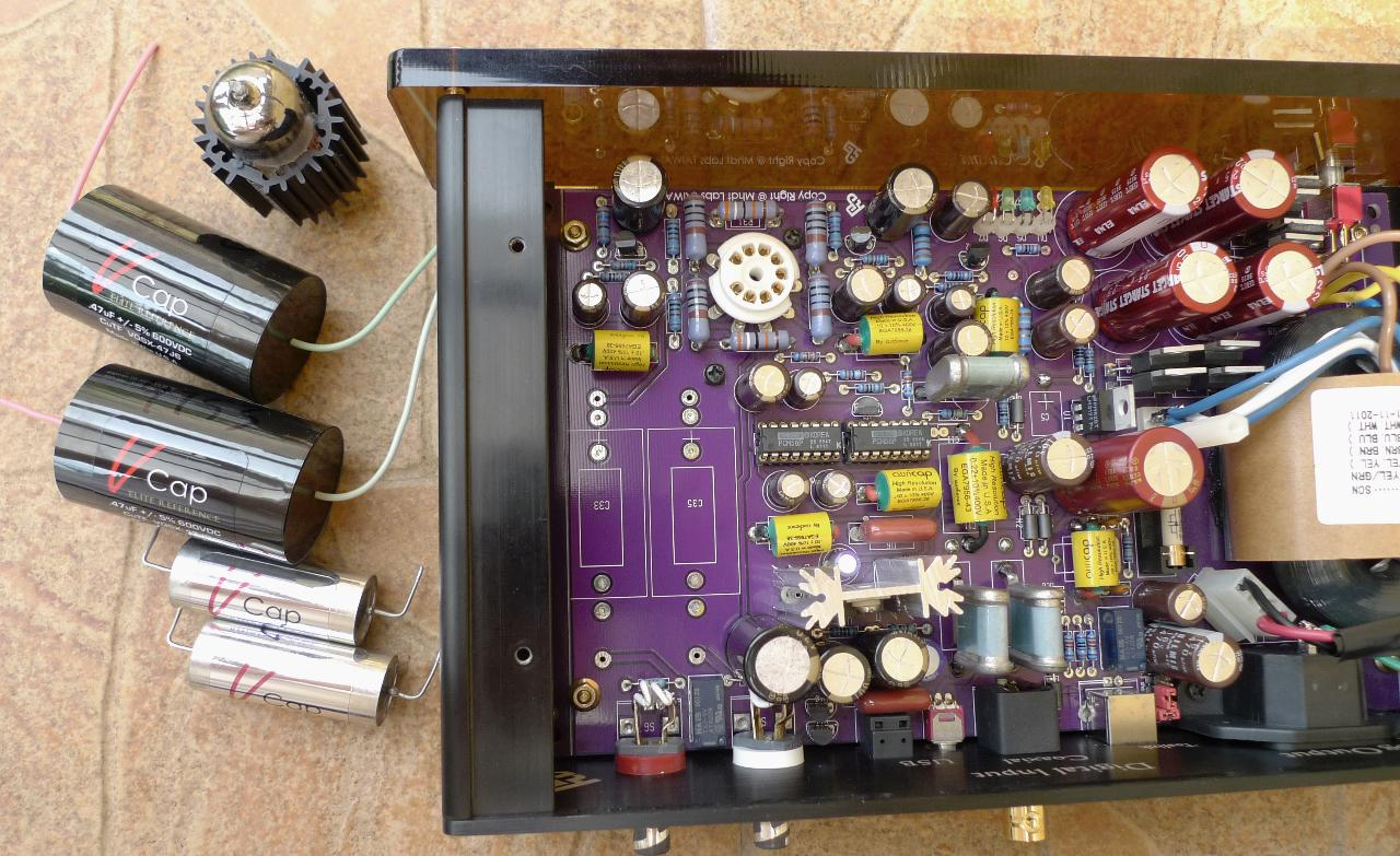 The output capacitors replacement...