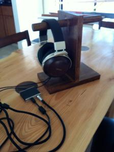 D5000s, ODAC, DIY Stand w/ maple wood (stained with Early American color and finished with...