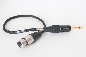 VERY slick 4-pin to TRS adapter cable. 8 strand wire sleeved. Furutech 1/4 in TRS, very good...