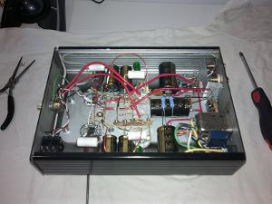 "My Millett ""Starving Student"" Hybrid, complete and working circuit. I designed a 48v linear..."