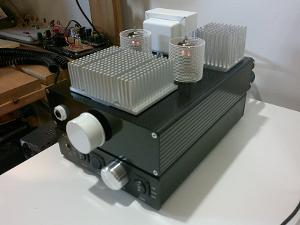 """My Millett """"Starving Student"""" Hybrid headphone amplifier, sitting atop the Audio-gd NFB-12. The..."""