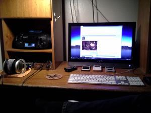 desktop setup, late Summer 2012