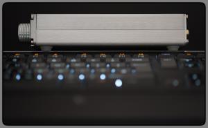 Yulong U100 (side) + Logitech Illuminated Keyboard