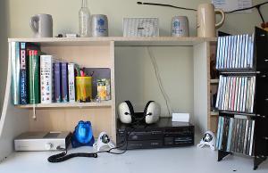 my listening setup Sony CDP101-->Schiit Asgard-->Wharfedale Isodynamic Headphone
