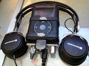 Beyerdynamic DT1350,  Fostex HP-P1, Ipod Classic 160GB, ALO Copper 22 Ipod to USB and ALO Black...