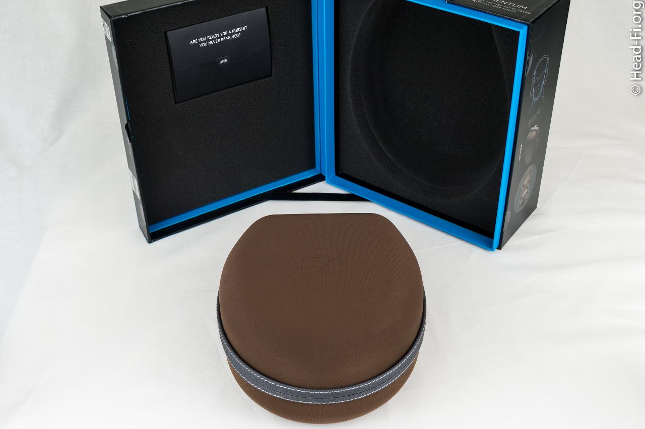 This is the very nice Sennheiser MOMENTUM carrying case, made of what I think is a nice brushed...
