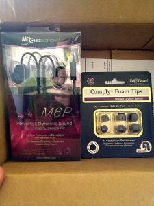 Meelectronics M6P and Comply Tx-500 from amazon.