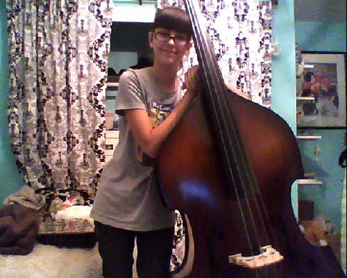 a bass and her girl