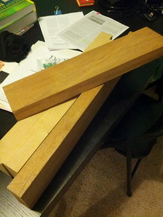 Here is some of the raw wood purchased for the build.  I bought both Alder wood and some...