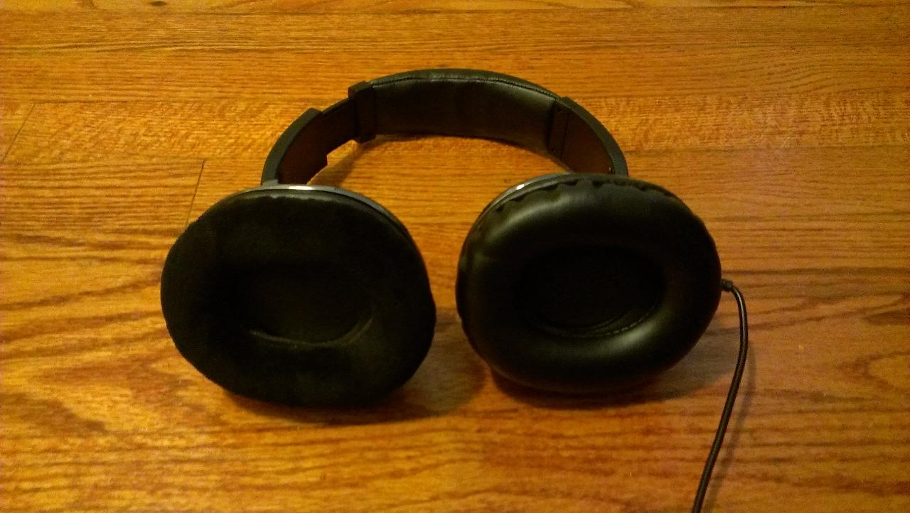 Stock pads are terrible, heres a pic with the stock on one side (fake leather) and the...