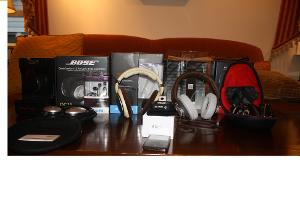 All of my headphones as of 9/21/12 and then some.