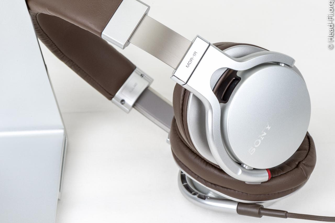 I extended the Sony MDR-1R's earpieces for this photo, to show the attention to detail on...