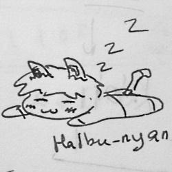 sleeping haibu-nyan.jpg