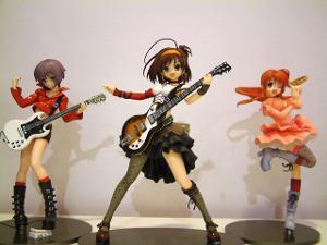 Max Factory Gekisou series, Haruhi Suzumiya, Yuki Nagato, Mikuru Asahina.