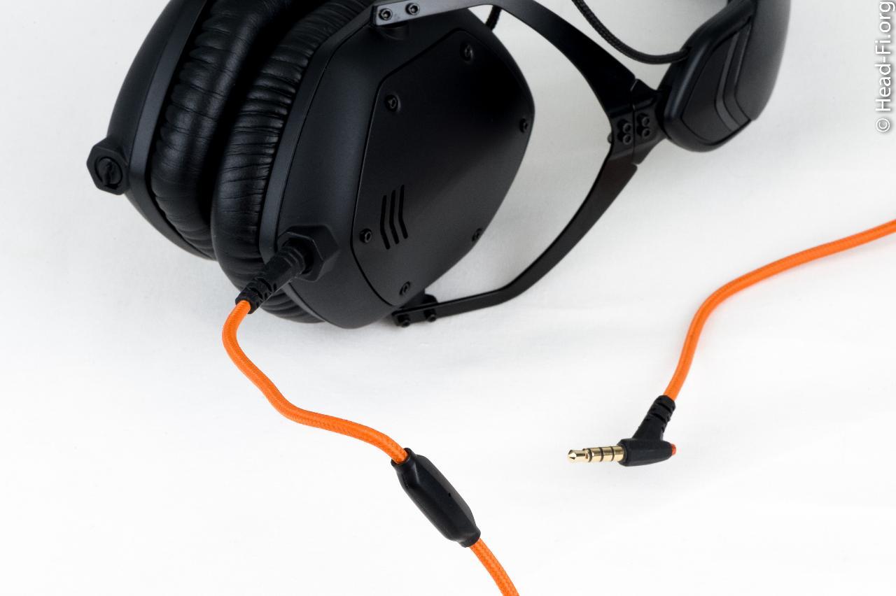 V-MODA M-100. I love the matte black design, combined with the orange cable.