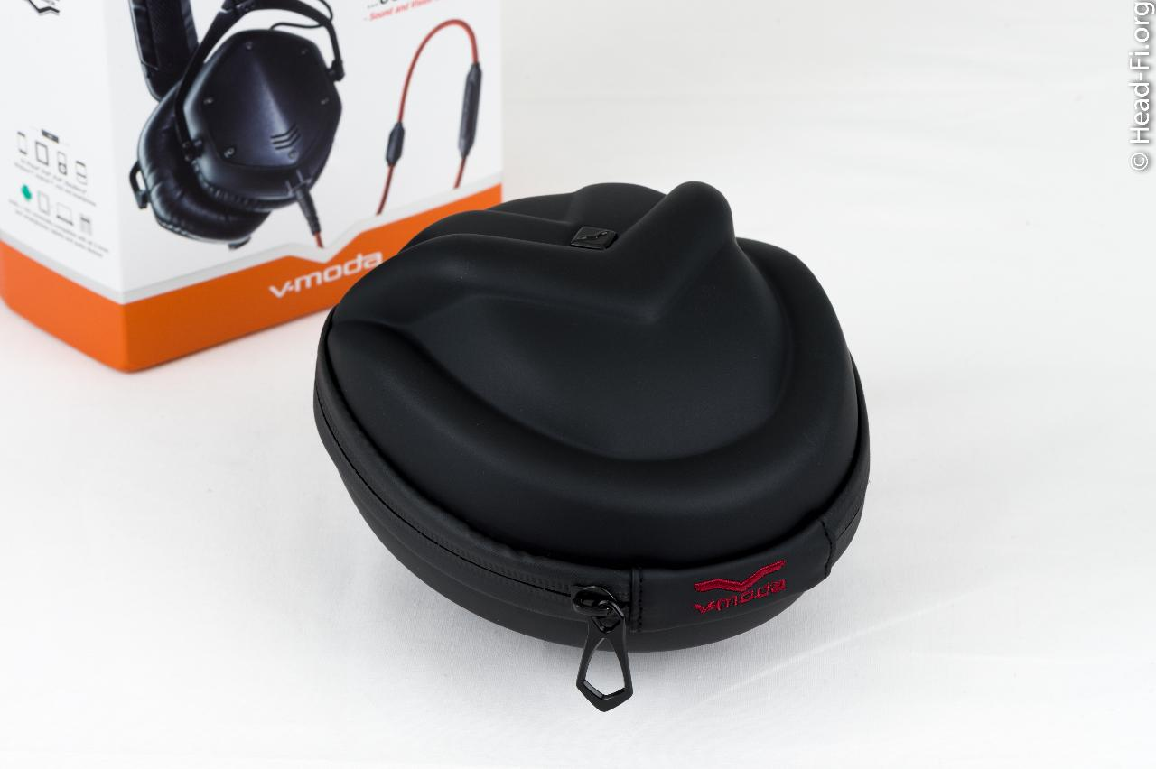 The V-MODA M-100 hard carrying case.