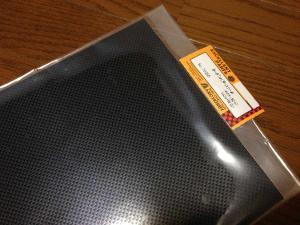 Sheet of carbon pattern sticker for RC cars. This one came from ABC hobby, Japanese hobby...