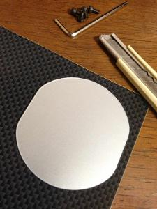 Cut the sheet with knife using original Custom One Pro cover for pattern.