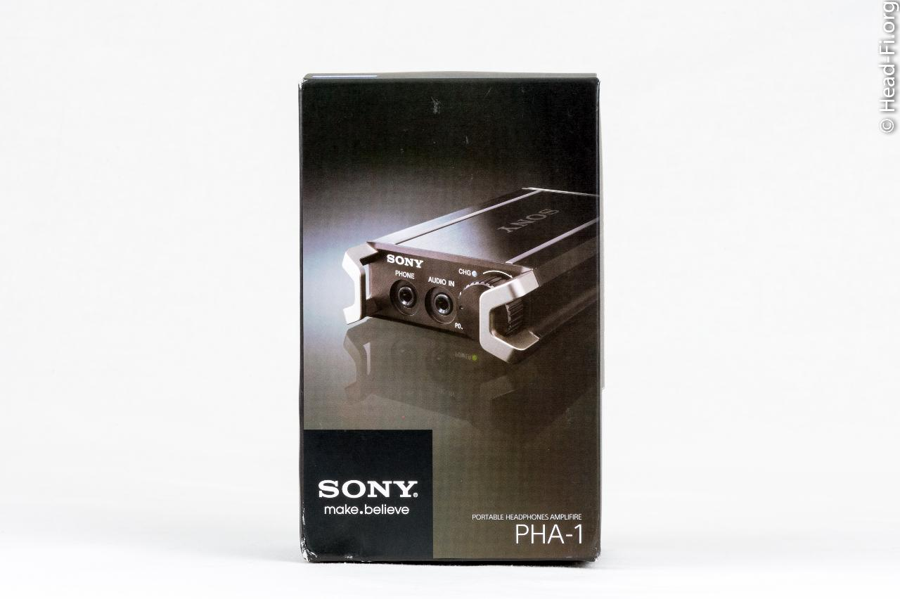 The Sony PHA-1's box, front view.
