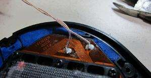 26awg UPOCC copper in clear teflon replaces stock wire.  Had no trouble switching out wires.
