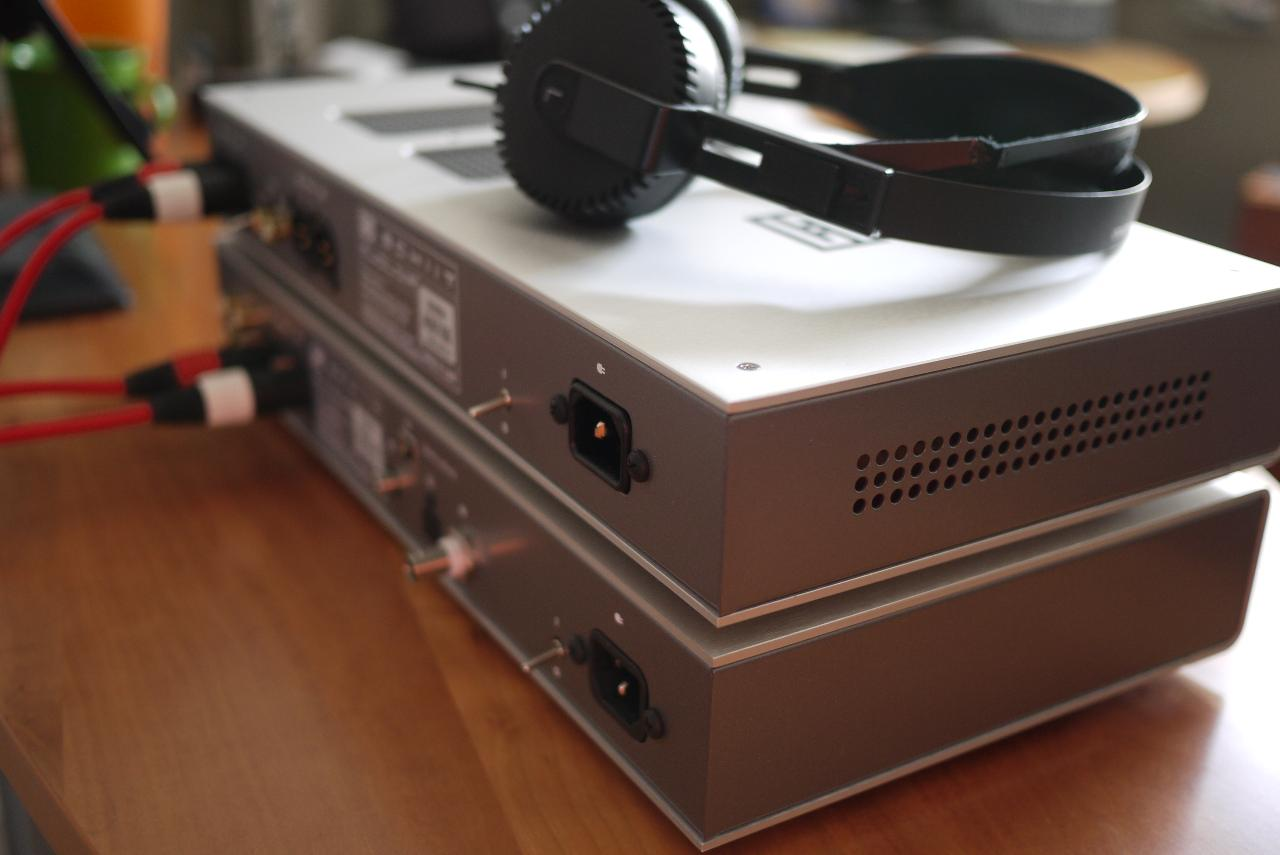 Mjolnir and Gungnir w my newly re-wired Yamaha HP-1s by BTG Audio