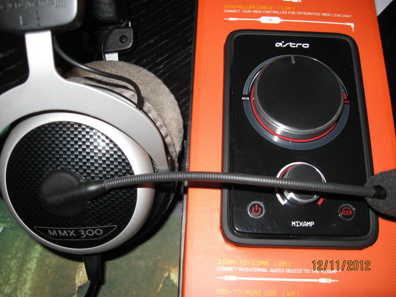 my gaming headset rig..a beyerdynamic MMX300 with an Astro mixamp..perfect set for gaming on my...