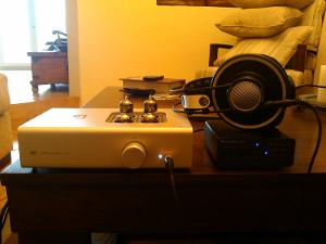 Amp: Schiit Audio - Valhalla Headphones: AKG -  K-702 Source: Cambridge Audio - DAC Magic 100