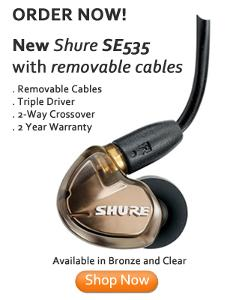 New Shure SE535 with Removable cables