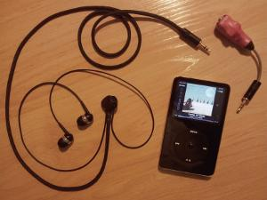 My humble rig: iPod Video 5.5G 30GB (running Rockbox) -> Passive Crossfeed Filter (Modified...