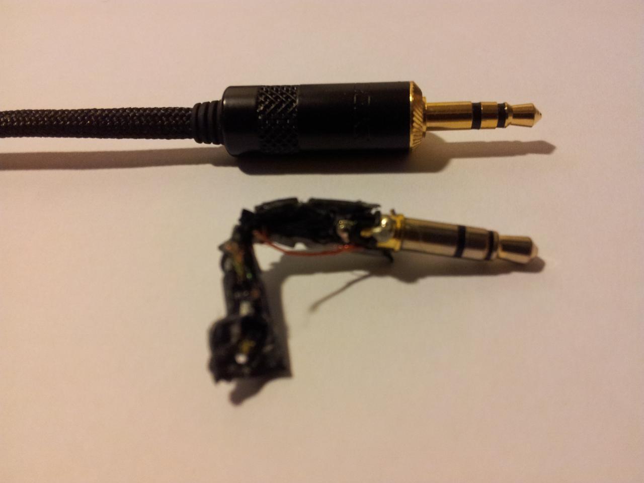 EP-630 plug fix (Neutrik plug, paracord sleeve)