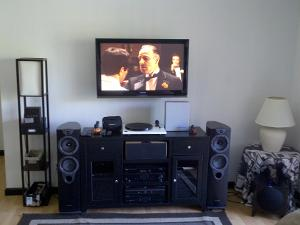 New Entertainment Center set up