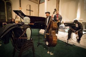 David Chesky on piano, Peter Washington on bass, Javon Jackson on sax, and Jeremy Pelt on...