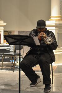 Jeremy Pelt on trumpet.